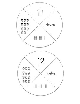 Number (11-20) Wheel Puzzles