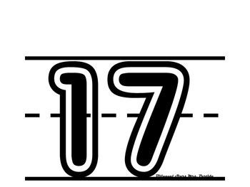 Number 11-20 Anchor Charts-Posters-English-Bilingual Stars Mrs. Partida
