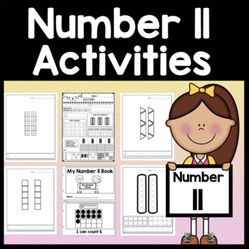Number 11 Worksheet and Number 11 Activities! {Number of the Day Kindergarten}