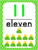 Number 11 Printable Bible Number Poster. Preschool-Kindergarten Numbers.