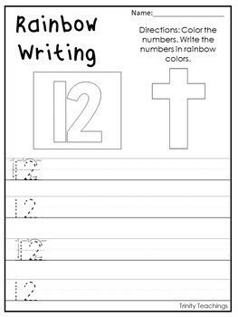 Number 12 Cross Printable Bible Worksheets. Bible Number of the Week.