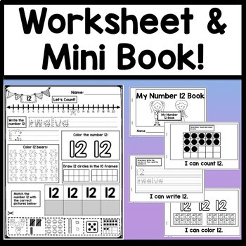 Number 12 Mini Bundle {Number 12 Worksheet and Six Number 12 Activities!}