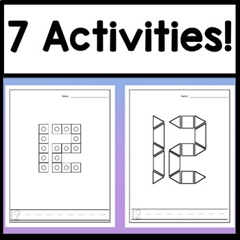 Number 12 Worksheet and Number 12 Activities! {Number of the Day Kindergarten}
