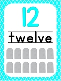 Number 12 Printable Bible Number Poster. Preschool-Kindergarten Numbers.