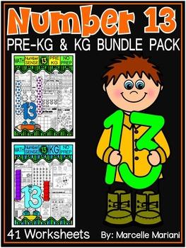 Number 13 Math Worksheets-NO PREP- BUNDLE PACK, CCSS