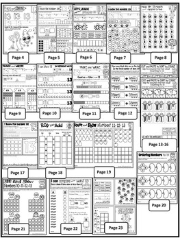 Number 13 Math Worksheets-NO PREP (KG EDITION)-Counting and Cardinality CCSS