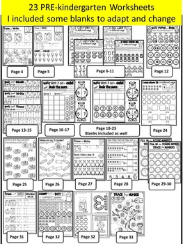 Number 13 Math Worksheets-NO PREP (PRE-KG EDITION)-Counting and Cardinality CCSS