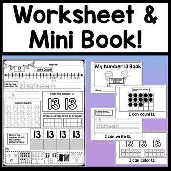Number 13 Mini Bundle {Number 13 Worksheet and Six Number 13 Activities!}