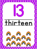 Number 13 Printable Bible Number Poster. Preschool-Kindergarten Numbers.