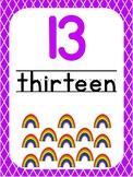 Number 13 Printable Bible Number Poster. Preschool-Kindergarten Numbers.