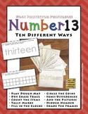 Number 13 Ten Different Ways