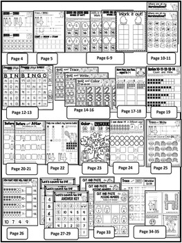 Number 14 Math Worksheets-NO PREP (PRE-KG EDITION)-Counting and Cardinality CCSS