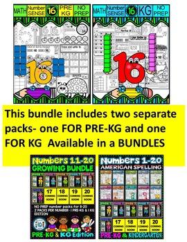 Number 16 Math Worksheets-NO PREP- BUNDLE PACK, CCSS