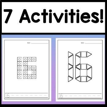 Number 16 Mini Bundle {Number 16 Worksheet and Six Number 16 Activities!}