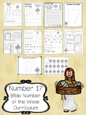 Number 17 Jesus Feeds 5,000 Printable Bible Worksheets.  Number of the Week