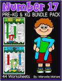 Number 17 Math Worksheets-NO PREP- BUNDLE PACK, CCSS