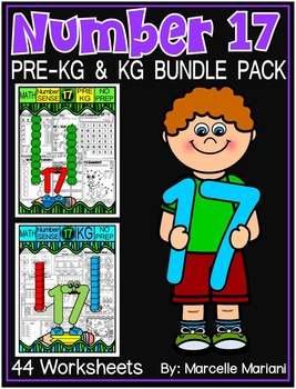 Number 17 Math Worksheets-NO PREP- BUNDLE PACK, CCSS