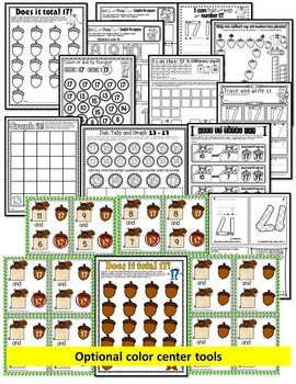 Number 17 Math Worksheets-NO PREP (PRE-KG EDITION)-Counting and Cardinality CCSS