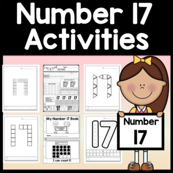 Number 17 Worksheet and Number 17 Activities!  {Number of the Day Kindergarten}