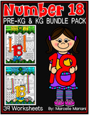 Number 18 Math Worksheets-NO PREP- BUNDLE PACK, CCSS