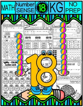 Number 18 Math Worksheets-NO PREP (KG EDITION)-Counting an