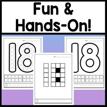 Number 18 Worksheet and Number 18 Activities!  {Number of the Day Kindergarten}