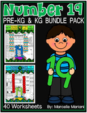 Number 19 Math Worksheets-NO PREP- BUNDLE PACK, CCSS