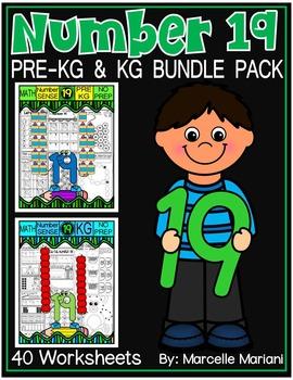 Number 19 Math Worksheets-NO PREP- BUNDLE PACK, CCSS