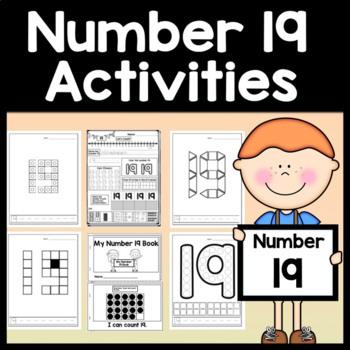 Number 19 Worksheet and Number 19 Activities!  {Number of the Day Kindergarten}