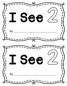 Number Two Interactive Mini Readers- FREEBIE!!