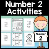 Number 2 Worksheet and Number 2 Activities! {Number of the Day Kindergarten}