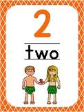 Number 2 Printable Bible Number Poster. Preschool-Kindergarten Numbers.