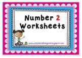 Number 2 worksheets