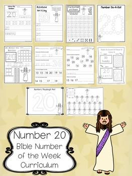 Number 20 Jesus Has Risen Printable Bible Worksheets.  Number of the Week