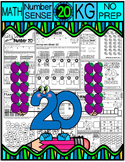 Number 20 Math Worksheets-NO PREP (KG EDITION)-Counting and Cardinality CCSS