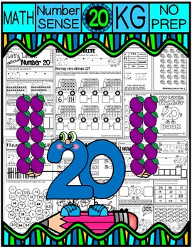 Number 20 Math Worksheets-NO PREP (KG EDITION)-Counting an