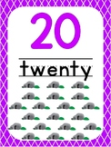 Number 20 Printable Bible Number Poster. Preschool-Kindergarten Numbers.