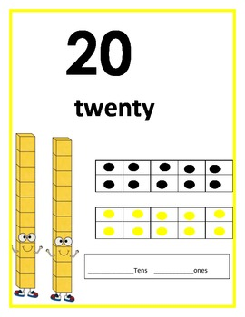 Number 20 poster and worksheet