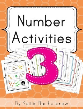 Number 3 Activities- 39 Pages! {Common Core}