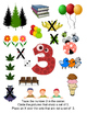 Number 3 Game and Counting Poster (Three) Math SPED PK K