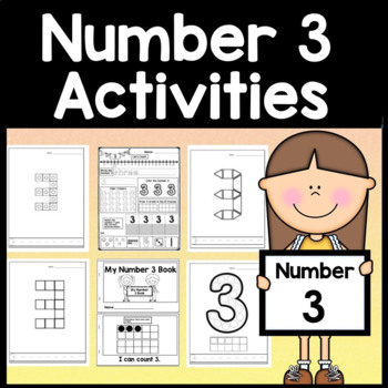 Number 3 Mini Bundle {Number 3 Worksheets and Six Number 3 Activities!}