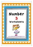 Number 3 worksheets