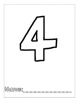 Number 4 Color and Trace Number Book