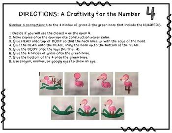 Number 4 Craftivity