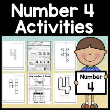 Number 4 Mini Bundle {Number 4 Worksheets and Six Number 4 Activities!}