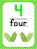 Number 4 Printable Bible Number Poster. Preschool-Kindergarten Numbers.