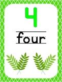 Number 4 Printable Bible Number Poster. Preschool-Kindergarten Numbers.