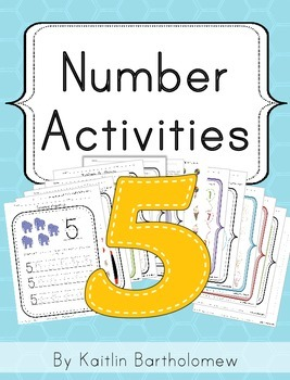 Number 5 Activities- 39 Pages! {Common Core}