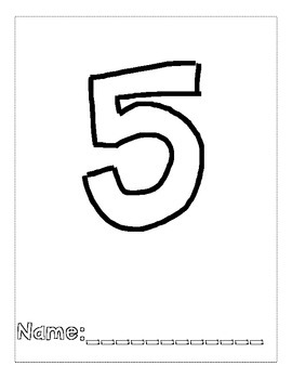 Number 5 Color and Trace Number Book