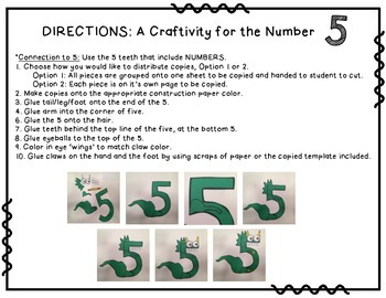 Number 5 Craftivity